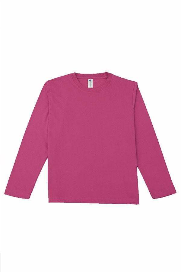 MD Kids Fullycombed Long Sleeve - Fuchsia